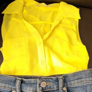 Neon Yellow Sleeveless Top